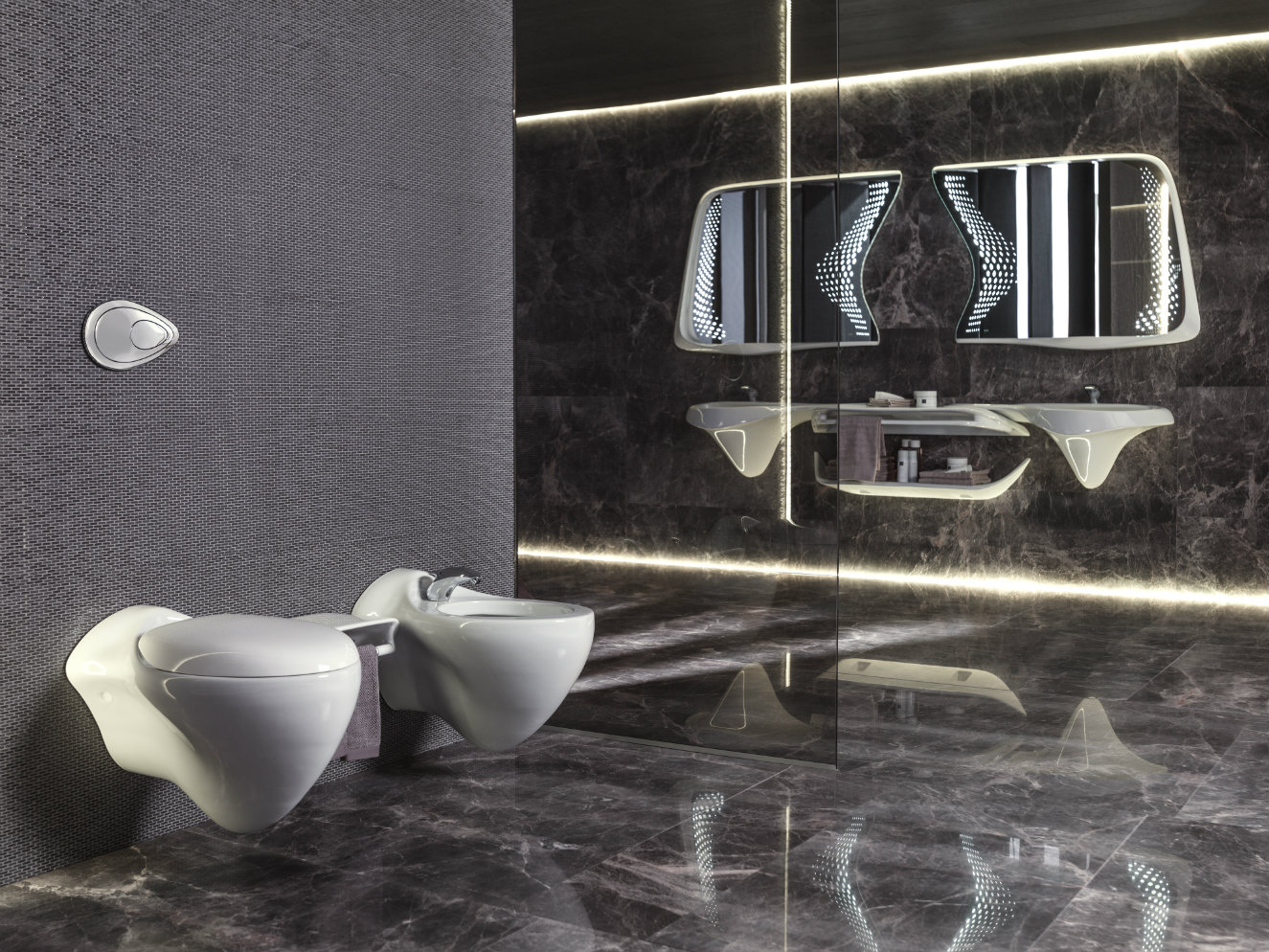 Fotografía: Porcelanosa. Cortesía, Zaha Hadid Design.