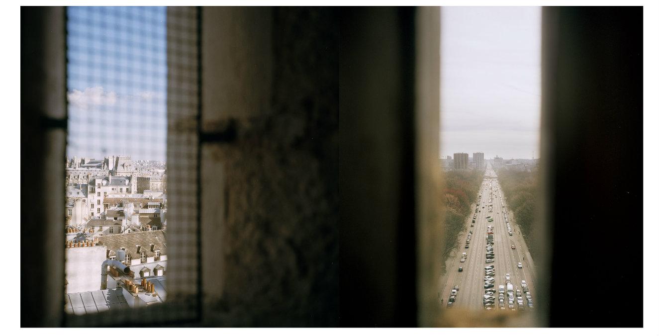Juanita Carrasco. París 26_Berlín 76, fotografía análoga. 90 x 174 cm. 2016.