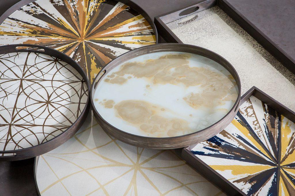 Colección de bandejas Mystic Gold, de Notre Monde.