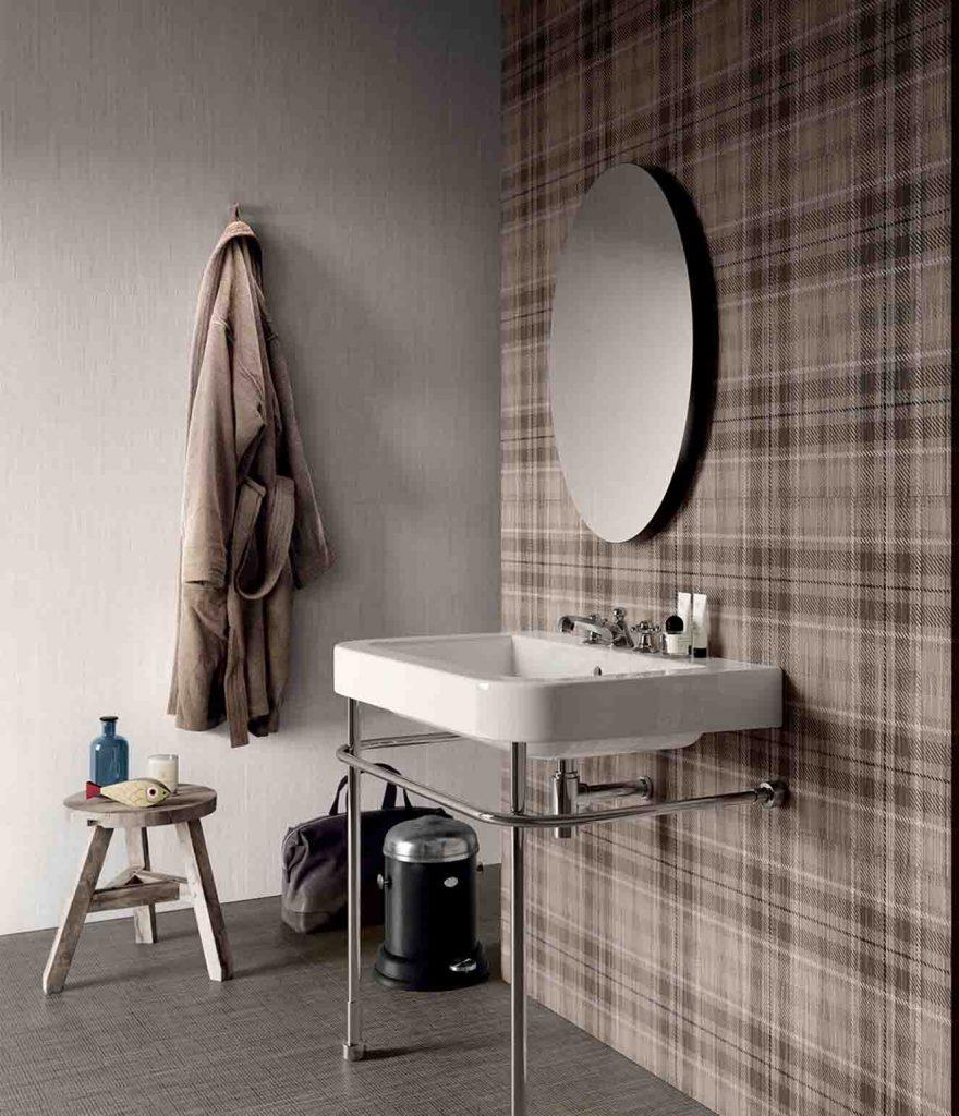 Con sabor escocés Para darle un aire clásico, elegancia y distinción a los espacios interiores, Alfa propone para paredes y pisos los porcelanatos 'Boutique Tailorart Sand', 60 x 60 cm —diseño escocés—, y 'Boutique Tartan Light', 60 x 60 cm, que dan la apariencia de textil. Esta colección importada viene con colores y diseños sobrios, ideal para ambientes tradicionales.