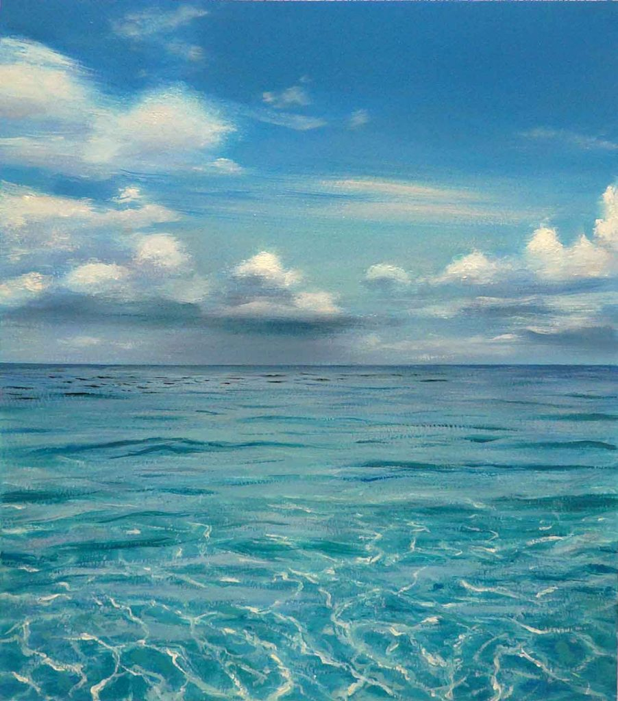 'Wading in the shallows, Bahamas', 2010. Óleo sobre papel. 76.2 x 56 cm.