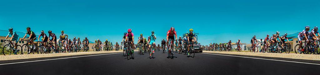 Tour de France Etapa 16, Línea de tiempo. Impresión Gicleé sobre papel de algodón, 70 x 200 cm. Edición 3/5. 2015.