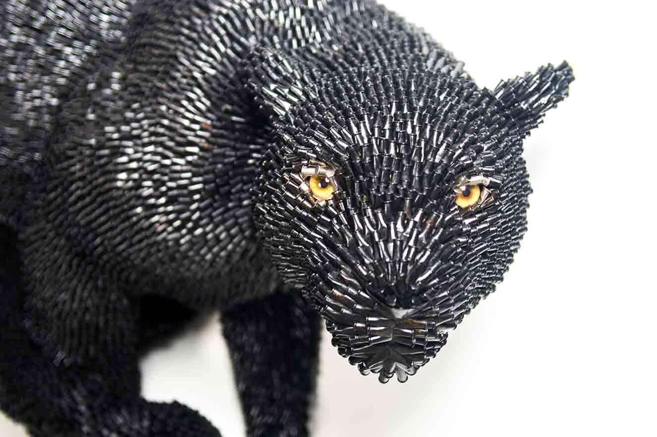 Black Panther, escultura de Federico Uribe. Fotografía: cortesía BARCÚ.