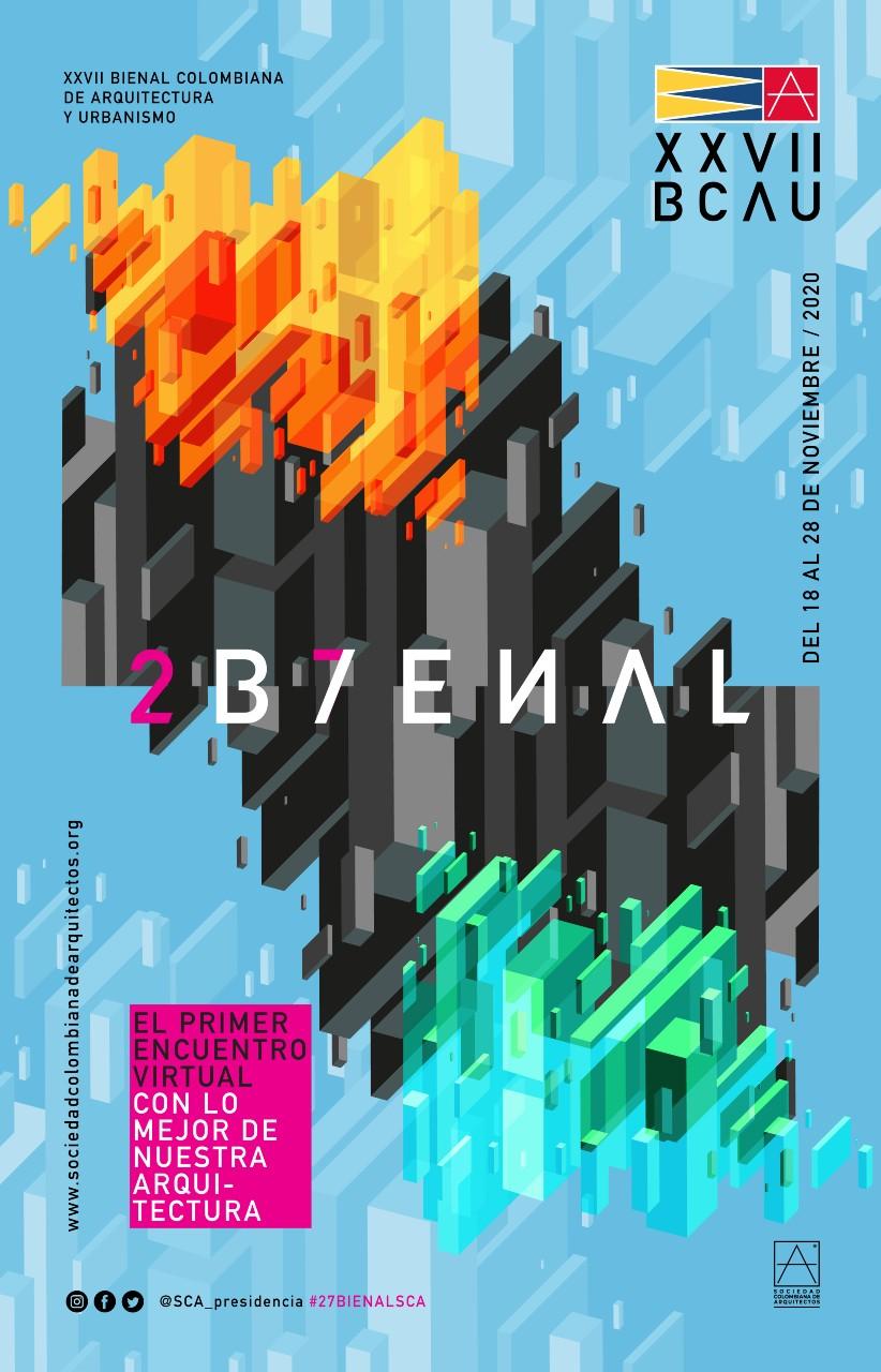 Afiche XVII Bienal Colombiana de Arquitectura